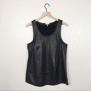 Joie genuine leather tank top tunic basic